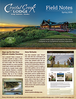 2016 Crystal Creek Lodge Field Notes