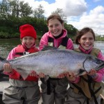 Kids and Salmon Fishing