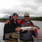 Guide Josh Fitz with happy guest